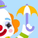 Clown at the Circus illustration